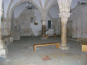 Room in Jerusalem traditionally held to be the Upper Room.