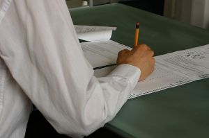 Hand-writing-exam-classroom