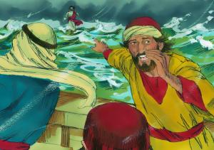 Jesus walks on water FBi